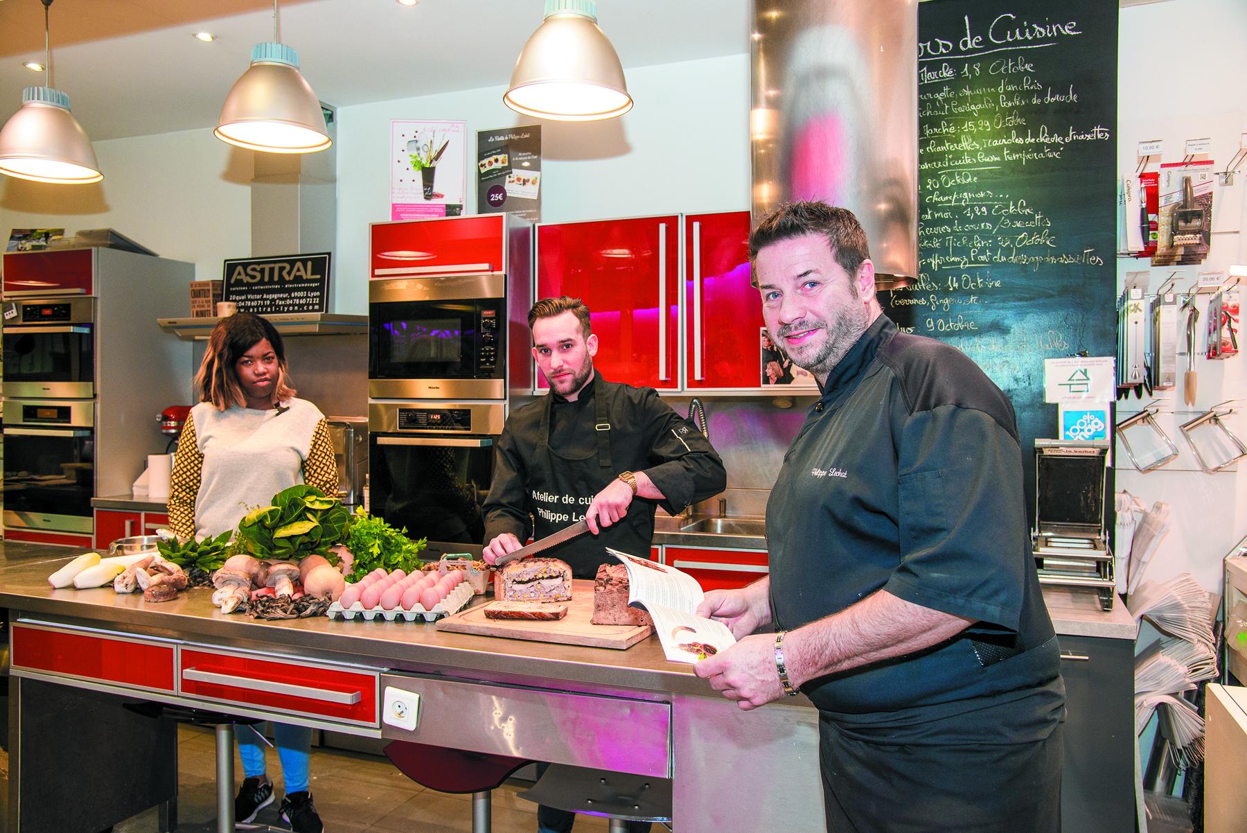 Atelier de cuisine les toques blanches lyonnaises for Atelier de cuisine philippe lechat
