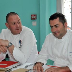 Les Chefs Laurent Triquenaud et Stéphane Garcia