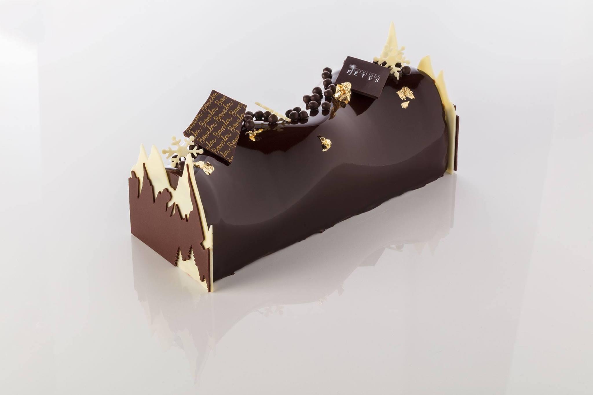 bûche au chocolat 2017 patissiers Bernachon